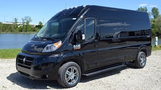 5e6f7fb593 2015 Ram ProMaster EcoDiesel 9 Passenger High-Top Conversion Van By Sherry  Vans Walkthrough
