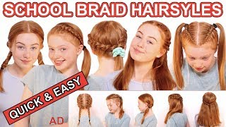 6 Quick & Easy Braid Hairstyles For School *Back To School DIY Hairstyles 2019 | Ruby and Raylee
