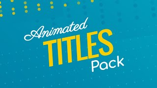 Animated Video Titles Template