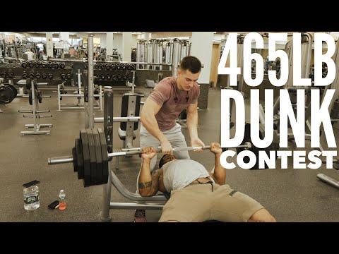 Heavy 465lb Bench Training & Dunk Session With Faze Censor and Faze Attach
