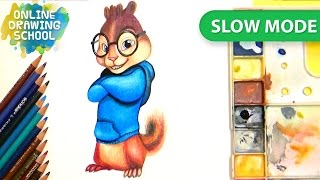 How to draw Simon from alvin and the chipmunks - Slow mode