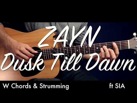 ZAYN - Dusk Till Dawn ft Sia Guitar Tutorial Lesson Guitar