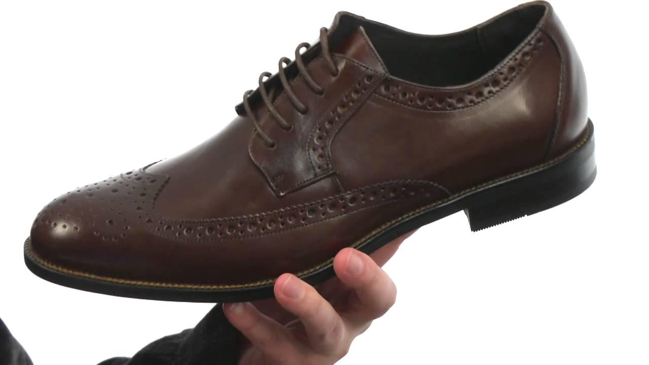 Stacy Adams Men/'s Garrison Wingtip Oxford Dress Shoes Black// Size 11