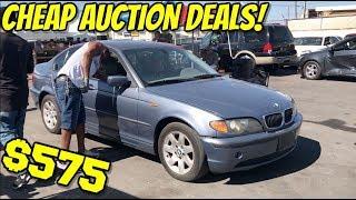 Watch : CHEAP AUTO AUCTION DEALS!