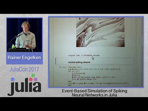 JuliaCon 2017 | Event-Based Simulation of Spiking Neural Networks | Rainer Engelken