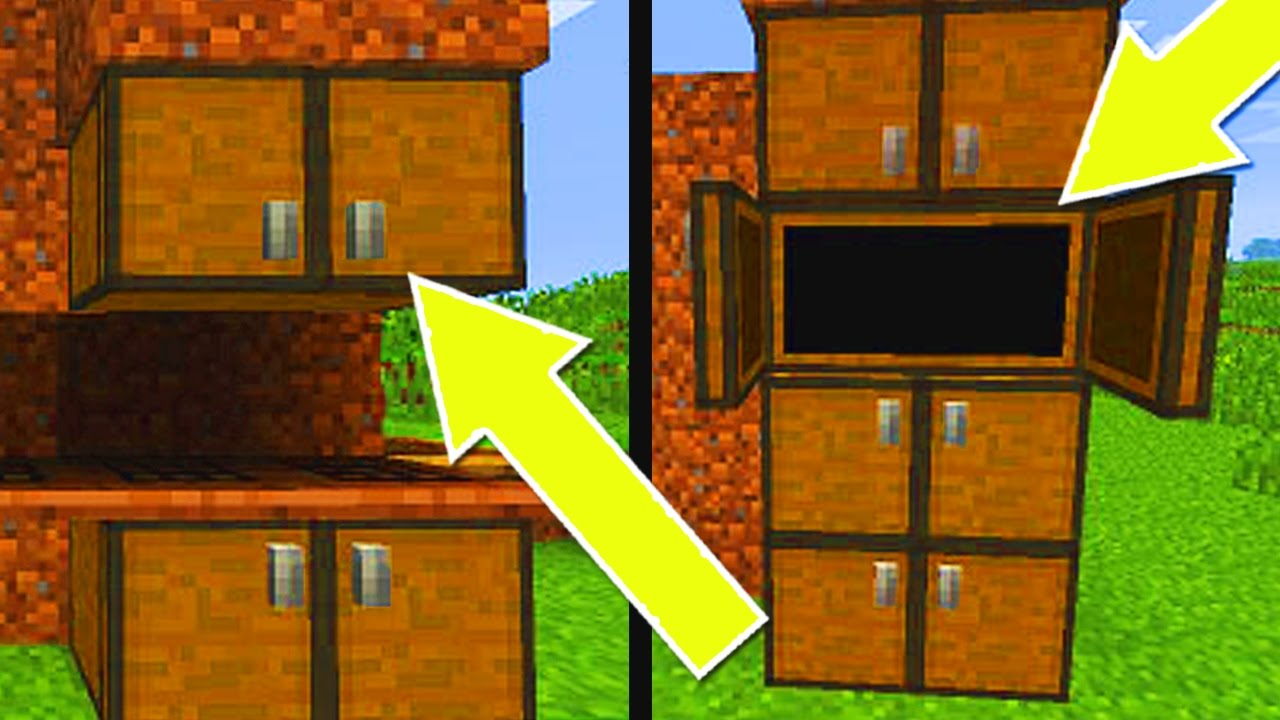 Minecraft Console Edition How To Make Cabinets Cupboards Ps3 Xbox360 Ps4 Xboxone Wiiu Youtube