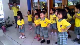 Senam Pagi Sehat Gembira anak TK BPK GUNTUR Bandung