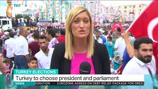 Erdogan addresses final election rally in Istanbul