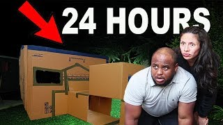 24 HOUR ULTIMATE BOX FORT SURVIVAL CHALLENGE