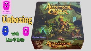 Alchemical Crystal Quest, Unboxing (In English, board game, cooperative)
