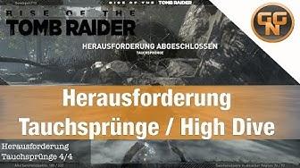 Rise of the Tomb Raider Herausforderung Guide Tauchsprünge für Erfolg Jeden Stein umdrehen