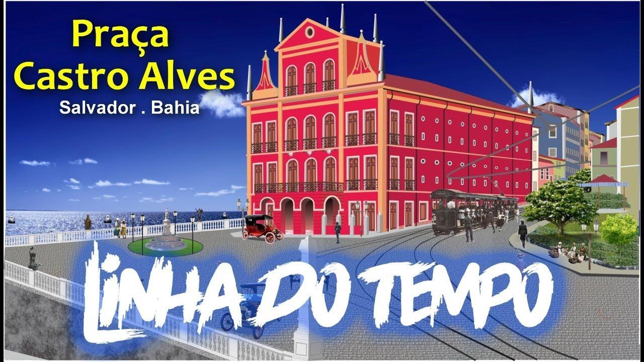 Praça Castro Alves - Linha do Tempo
