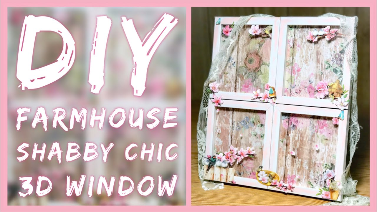 This is delightful and inspiring. Diy Shabby Chic Farmhouse 3d Window Spring Dollar Tree Room Decor Mother S Day Gift Idea Youtube