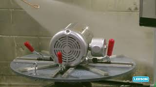 LEESON® Extreme Duck® Ultra IP69 Certified Washdown Motor