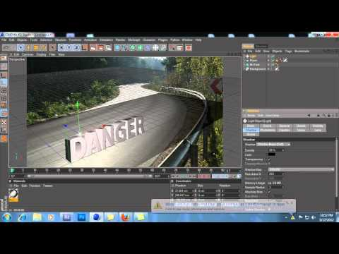 Cinema 4D: 3D Text compositing and photoshop cs5 tutorial