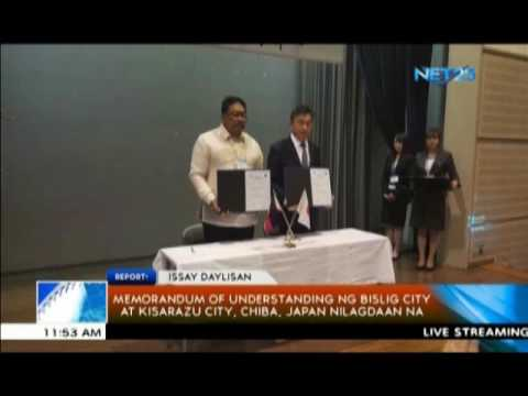 Memorandum of Understanding ng Bislig City at Kisarazu City, Chiba, Japan nilagdaan na