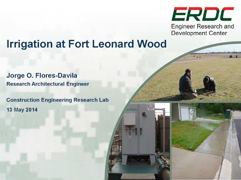 Irrigation at Fort Leonard Wood