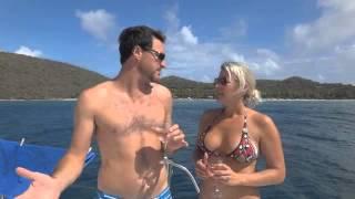 SunshineSailing Charters Steppin Up Yacht Vacation Testimonial with Megan Duma and Ryan Higgins