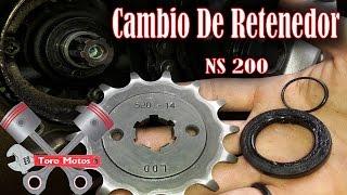 Pulsar 200 NS Cambiar Retenedor Y Oring Del Piñon De Salida | ToroMotos