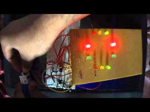 Fritzing Project Arduino Variable Cycle Traffic Lights w