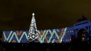 Новогоднее мультимедийное шоу 2016. СПб.