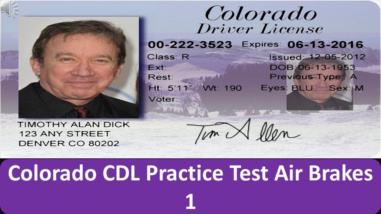 Colorado CDL Practice Test Air Brakes 1