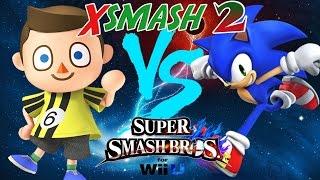 xsmash 2 atomsk villager vs 6wx sonic