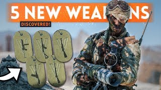 5 NEW WEAPONS DISCOVERED! - Battlefield 5 LEAKED Tides of War Dog Tags