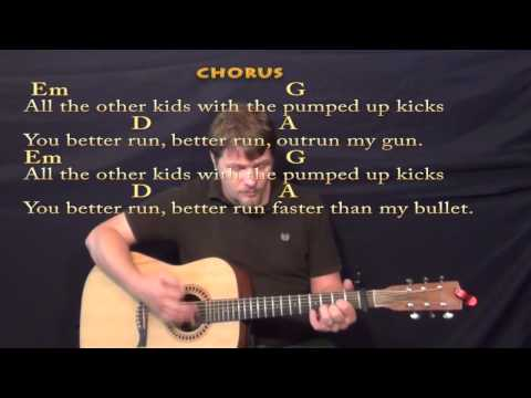 Pumped Up Kicks (Foster the People) Strum Guitar Cover Lesson with Chords/Lyrics