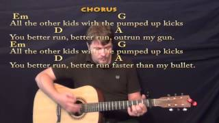 Pumped Up Kicks - Strum Guitar Cover Lesson with Chords/Lyrics