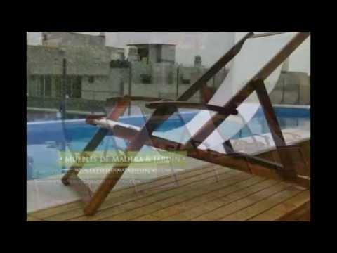 Reposeras muebles de madera y jard n com youtube - Muebles de jardin ...