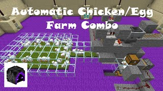Minecraft Automatic Chicken Farm / Minecraft Automatic Egg Farm - 1.15.2