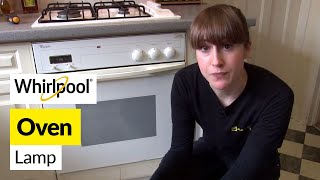 How to replace an oven lamp in a Whirlpool cooker
