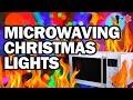 Microwaving Christmas Lights - Man Vs Science