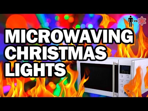 Microwaving Christmas Lights - Man Vs Science