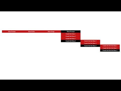 Cara Membuat Banyak Sub Menu HTML CSS