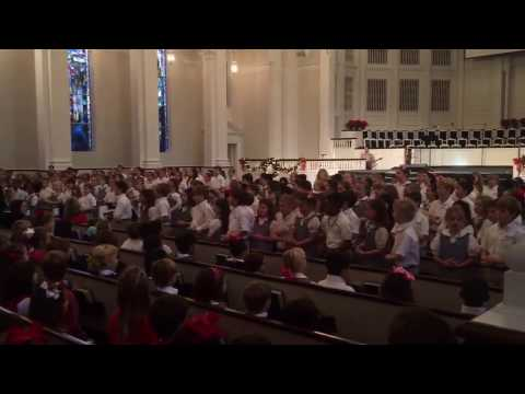 Second Baptist School recites Luke 2