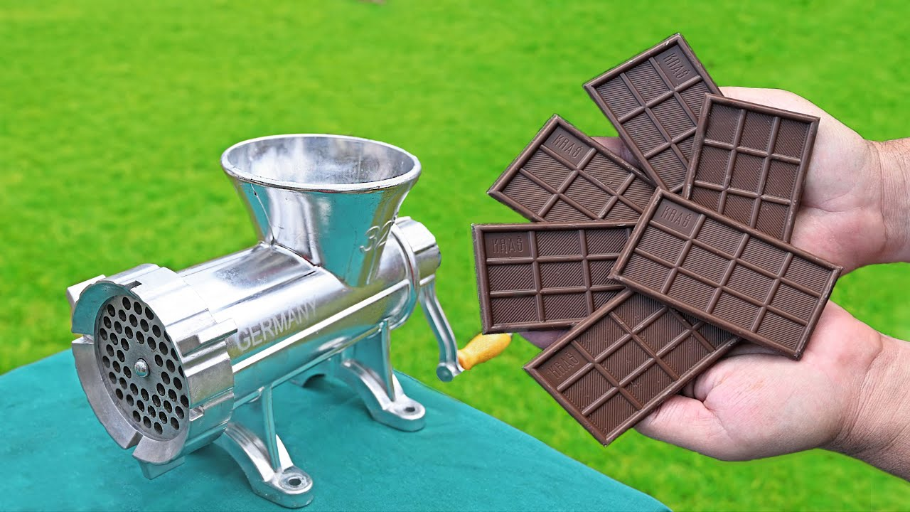 EXPERIMENT CHOCOLATE BAR VS MEAT GRINDER