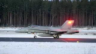 Evening Finnish Air Force Hornet departures at Oulu EFOU