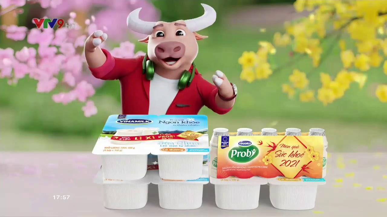 Quảng cáo Vinamilk Probi tết 2021 – Tặng 1 lốc Probi khi mua 3 lốc sữa chua (15s)