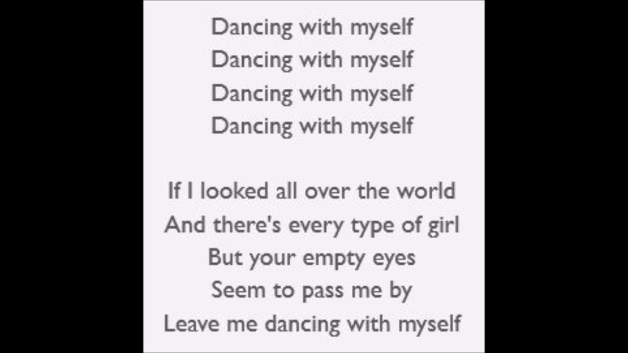 Dancing With Myself Billy Idol Lyrics