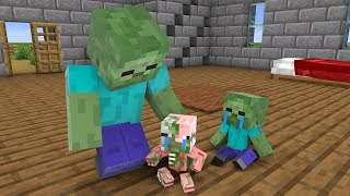 Monster School : Baby Zombie and Baby Zombie Pigman - Sad Story - Minecraft Animation
