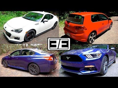 Subaru WRX vs Ford Mustang vs VW GTI vs Scion FRS (Subaru BRZ)