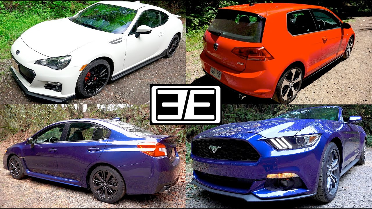 Gti vs wrx subaru wrx vs ford mustang vs vw gti vs scion frs