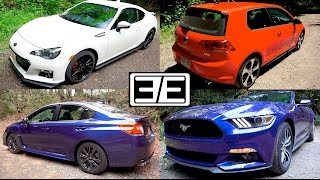 Subaru WRX vs Ford Mustang vs VW GTI vs Scion FRS (Subaru BRZ)