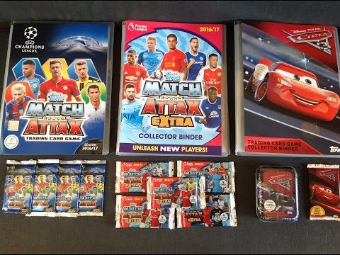 Topps Match Attax UEFA Champions League, Extra & Cars 3 Trading Card Pack Opening