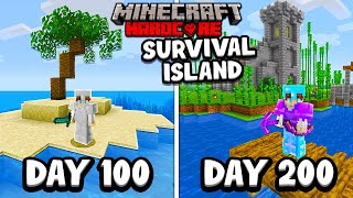 I Survived 200 Days on a SURVIVAL ISLAND in Minecraft Hardcore...