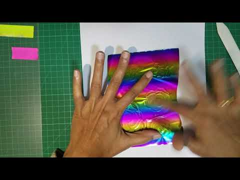 Applying CrafTangles Foil On Acetate To Create Fun Backgrounds [Tutorial] [No Laminator]
