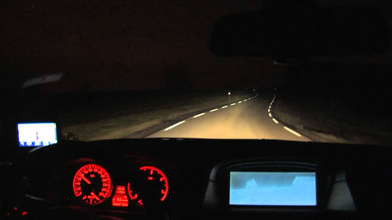 Bi Xenon Headlights >> BMW Bi-Xenon Adaptive Headlights cockpit view - YouTube
