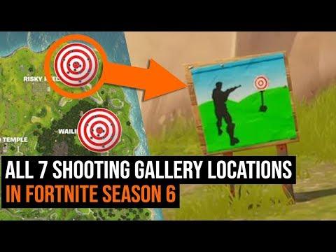 ALL 7 Shooting Gallery Locations in Fortnite - Season 6 Week 4 Challenge